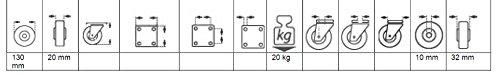 PVC-Bereifung mit Kunststofffelge Schwarz Helmer 709132 Leichtes Rad D/örner