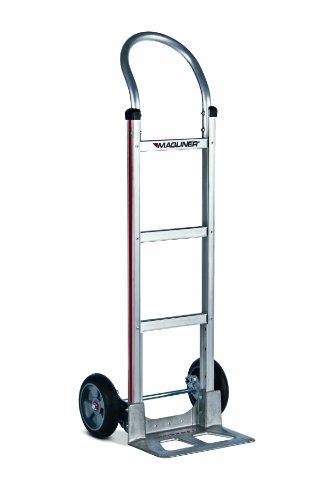 Magline-HMK111AAA5-Aluminum-Hand-Truck-U-Loop-Handle-Straight-Back-Frame-8-Balloon-Cushion-Wheels-Stairclimbers