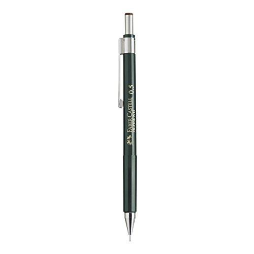 Faber Castell B-136500 – Portaminas TK-Fine Con Goma De Borrar Y 3 Minas Finas, Graduación HB, Trazo 0.5 Mm, Color Negro