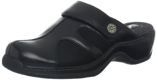 Softwalk Women's Acton Synthetic Clog,Black,7 M -