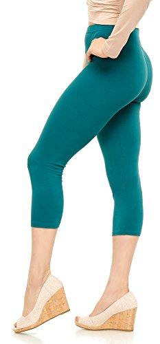 Lush Moda Extra Soft Leggings - Variety of Colors - Plus Size - Jade ()