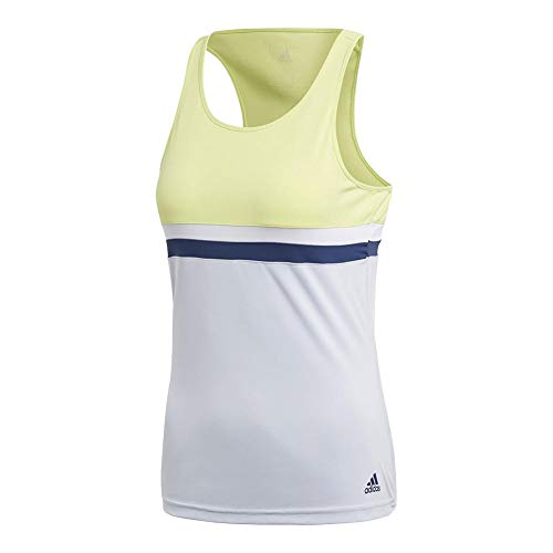 adidas Women's Tennis Club Tank Top, Semi Frozen Yellow, XX-Small by adidas (Image #1)