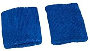 Unisex 1 Pair of Wristbands or Sweatbands Blue