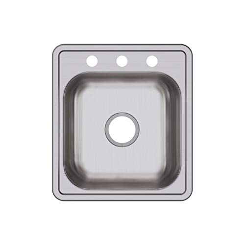 Elkay D117193 Dayton Single Bowl Drop-in Stainless Steel Bar Sink