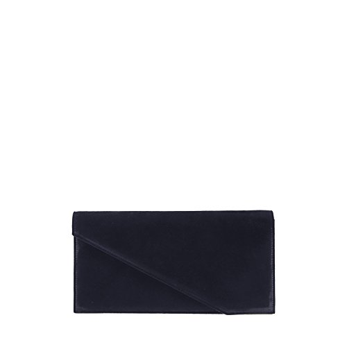 GION Bora Women Blue Leather Clutch Evening Bag by GION leather goods