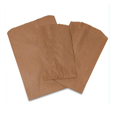 - Best Deal! Brown Paper Merchandise Bags, Pack of 200, Natural Kraft Paper Bags by SHOPINUSA (200, 9 7/8