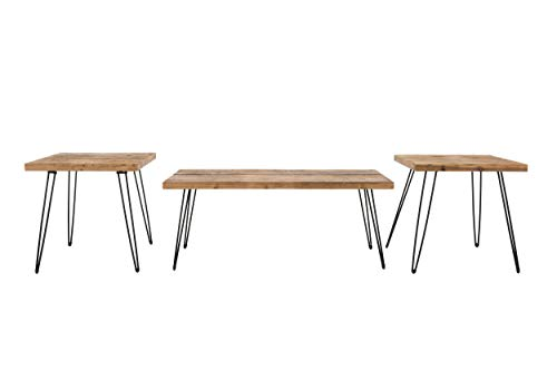 (Belmont Home Reclaimed Wood and Metal Tables (Set of 3))