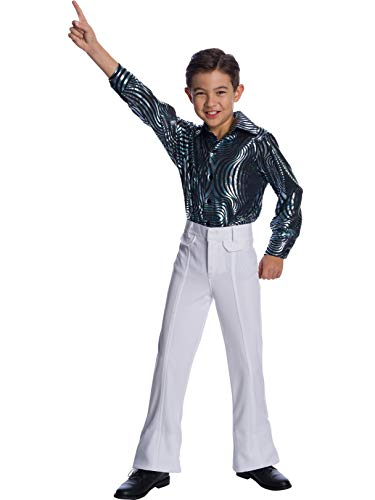 Charades Little Boy's Disco Pants Childrens Costume, White, X-Large