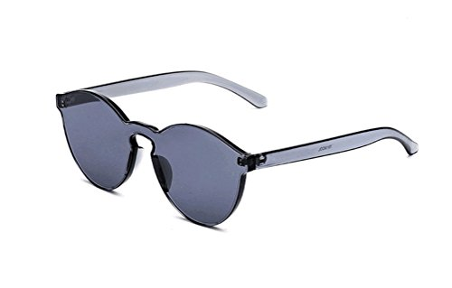 GAMT Rimless Tinted Transparent Sunglasses Colorful One Piece Designer Glasses - Sunglasses Grey Tinted