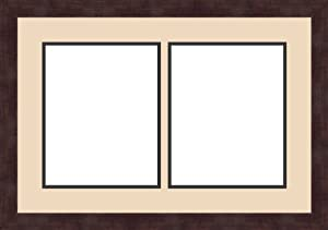 art to frames double multimat 604 78389 frbw26061 collage frame photo mat double mat with 2 8x10 openings and espresso frame - Double 8x10 Frame
