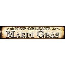 Smart Blonde ST-587 5 x 24 in. Mardi Gras New Orleans Metal Novelty Street Sign