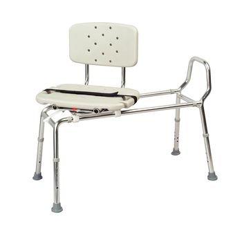(Sammons Preston Eagle Health Heavy Duty Sliding Transfer Bench with Swivel Seat (Non-Padded Seat )