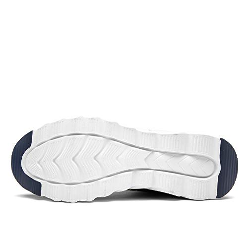 Marino Azul Hombres Sneakers Unisex Mujer Deportivas Transpirables Deporte para Zapatos Gimnasio Casual Running Pq7BnPR4