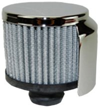 Mota Performance A70152 Chrome Plated Push-In Valve Cover Breather with 3'' Washable Filter Element and Dust Shield by Mota Performance
