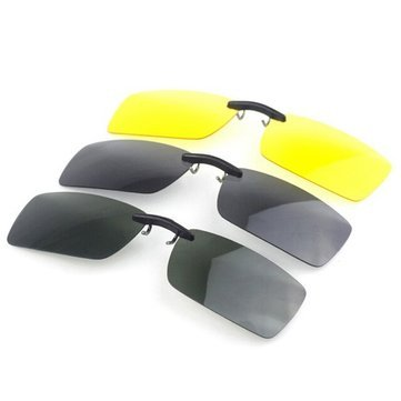 Sunglasses & Sports Glasses - Polarized Clip On Sun Glassess Night Vision Clip Driver Glasses Lens - Polarized Clip On- - Night Sunglasses Vision Ebay