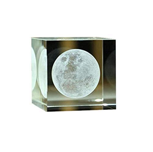 Xgunion Crystal Cube 3d Moon Birthday Christmas Gift 3.14'' by Xgunion (Image #1)