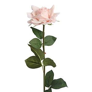 Mikilon Artificial Silk Flowers Fake Rose for Wedding Party Home Design Bouquet Decor Flannel Touch 1 Pcs 60
