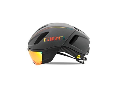 Giro Vanquish Mips Matte Charcoal Firechrome Ironman Aero Bike Helmet Size (Ironman Bicycle Helmet)