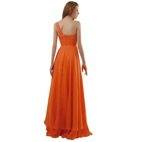 Orange Schultergurt Oragnge Chiffon BRIDE Spalte Mantel GEORGE ein Abendkleid bodenlangen XzWUHqawa