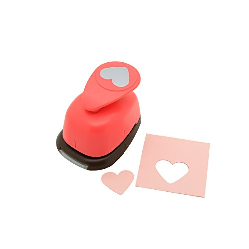 Bira 1 inch Heart Lever Action Craft Punch, Valentine's Day Punch, for Paper Crafting Scrapbooking Cards Arts (1-inch Heart)