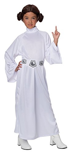 Jedi Costume Girl - Star Wars Child's Deluxe Princess Leia Costume, Medium