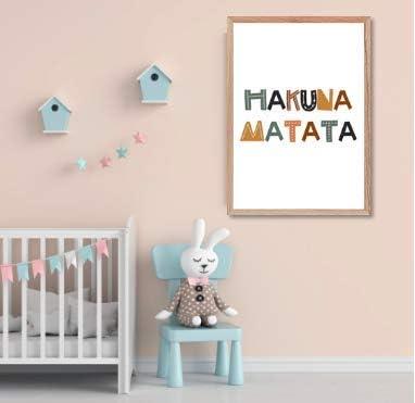 Papers Rain Lámina Infantil Hakuna Matata 30x40 para enmarcar. -Hakuna Matata- Se envía Desde España: Amazon.es: Hogar