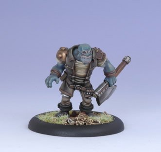 Iron Kingdoms Miniatures: Grindak Bloodbreath, Trollkin Adventurer