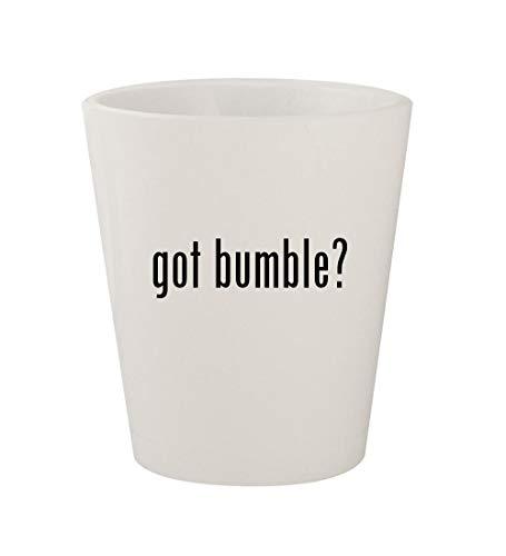 got bumble? - Ceramic White 1.5oz Shot Glass - Creme Conscious