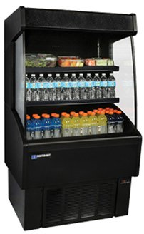 Master-Bilt, VOAM48-60, Vertical Open Air Merchandiser, Refrigeration, 18.2 Cubic Feet, Black