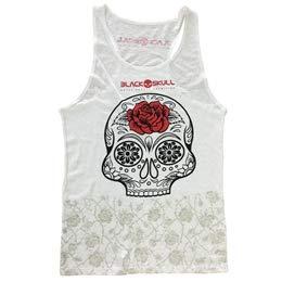 Camiseta Regata Branca Carol Saraiva - Black Skull - G