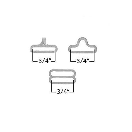 Metal Cravat Clip Hook Fastener for Necktie Strap 100 Sets Adjustable Bow Tie Hardware Clip Set silver