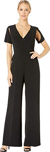 BCBGMAXAZRIA Women's Johnny Cutout Jumpsuit Black Medium