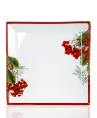 Charter Club Grand Buffet Red Berry Salad Plate 8 x 8 in.
