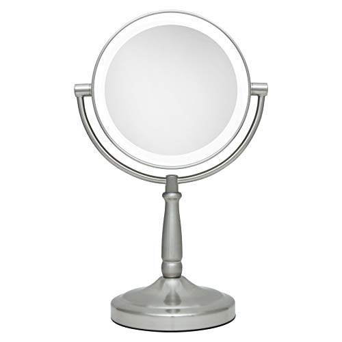 Zadro 10X/1X Magnification Dual-Sided Vanity Mirror, Satin Nickel