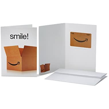 Amazon.com $100 Gift Card in a Greeting Card (Smile! Design)