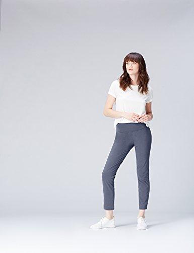 con Sportivi Donna Activewear Marl Blu Elastico Denim Pantaloni Black wtUqT