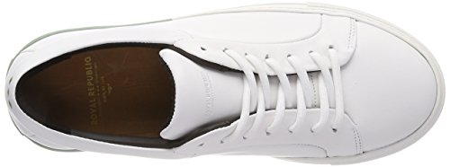 Royal RepubliQ Elpique Impact Shoe, Sneaker Donna Weiß (White + Blue Accent)