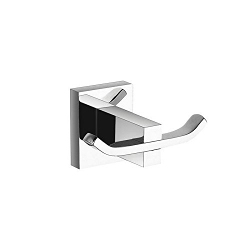 Aqua BRASS DOUBLE ROBE HOOK WITH CHROME FINISH (9825)
