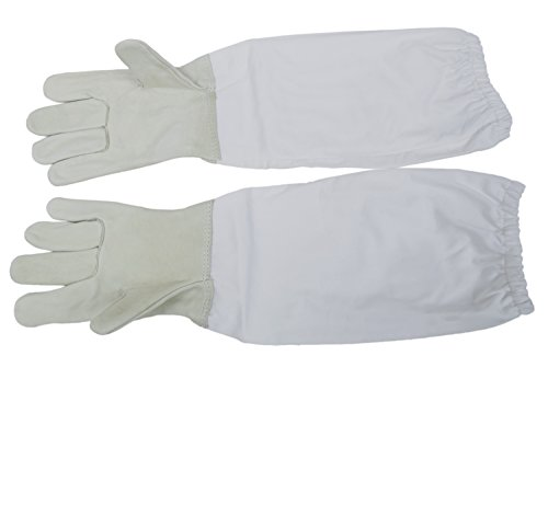 VIVO Small (S) Beekeeping Gloves, Leather Bee Keeping with Sleeves (BEE-V103S)