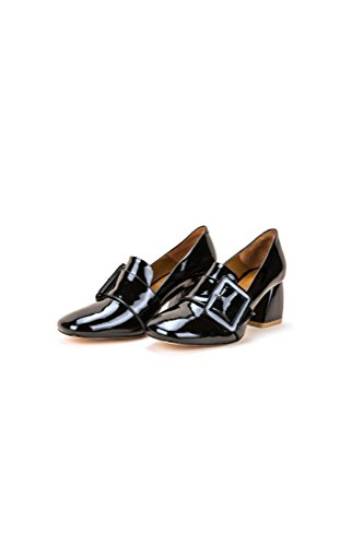 """Moda Scarpe Label Schuhe Pompe """"brillare Nero"""""""