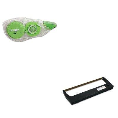 KITPRT255048402UNV75606 - Value Kit - Printronix 255048402 Ribbon (PRT255048402) and Universal Correction Tape with Two-Way Dispenser ()