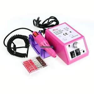 New 110V Manicure Pedicure Electric Drill Acrylic Nail Art Pen Machine Set Kit