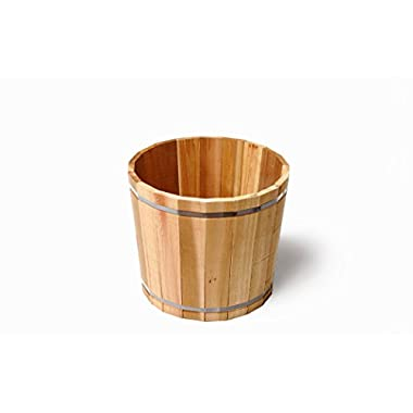 Susquehanna LB17841 18-1/2-Inch Large Outdoor Barrel Planter, Cedar
