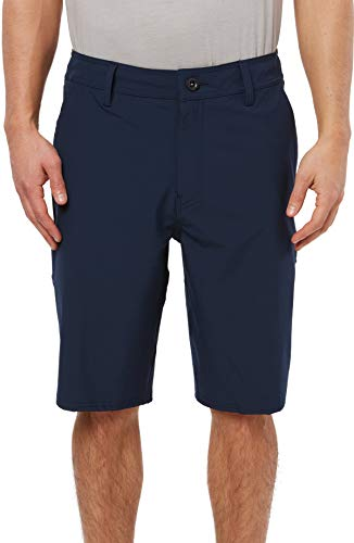 (O'Neill Men's Water Resistant Hybrid Walk Short, 21 Inch Outseam (Navy/Reserve Solid, 33) )