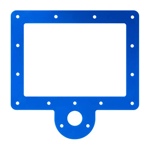 (Skimmer Box Gaskets (Qty 2), Navy Blue Grip Seal - Never Leak Pool Liner Technology for Above Ground Pool Liners)