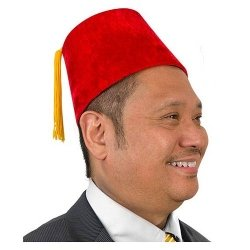Accoutrements Red Velour Fez Costume -