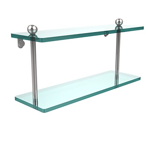 Review Allied Brass PR-2/16-PC 16 by 5-Inch Double Glass Shelf By Allied Brass by Allied Brass
