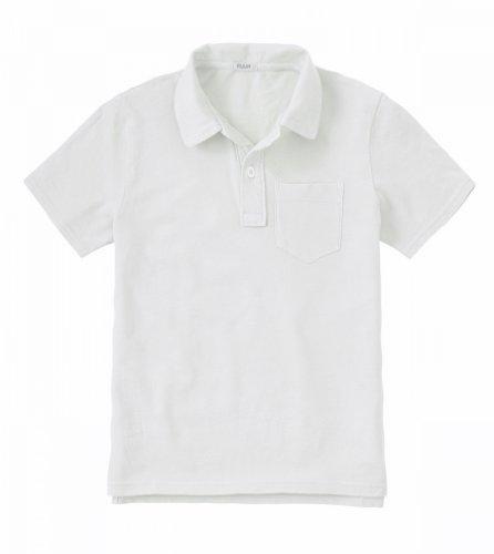 Ruum Big Boys' 5-14 Pique Polo White S 7-8