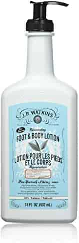 J.R. Watkins Rejuvenating Peppermint Foot and Body Lotion (Peppermint, 18 Ounce)