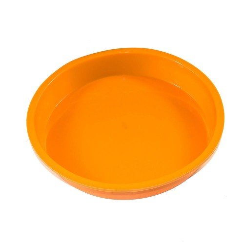 1PCS Professional ROUND Cake Pie Pan Orange 9inch DIY Kitchen Heavy Duty Silicone Mold Muffin Pizza Pastry Baking Tray Mould Non-Stick Chocolate Bareware Pans Decorative, Never Used